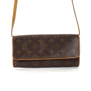 Auth Louis Vuitton Pochette Twin Gm #6925L22